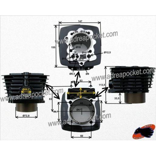 Cylindre moteur Zongshen 250cc 167FMM et quad SHINERAY 250STXE