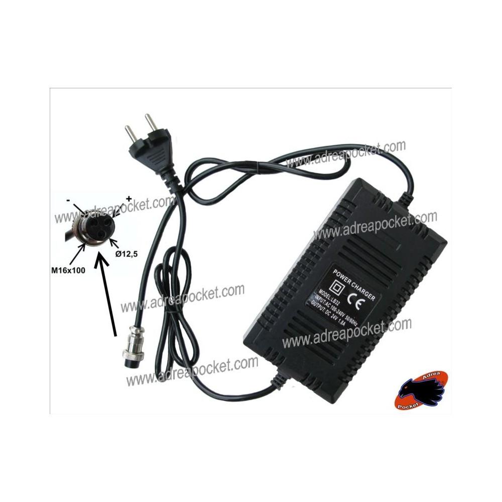Chargeur 24 Volts 1,8 A Trottinette Quad Electrique Chinois